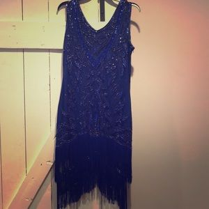 1920s inspired navy dress